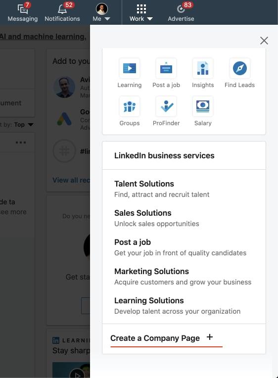 LinkedIn firemní stránka je jediná možnost, jak na LinkedIn platformě promovat reklamu. Kromě formátu InMail, kdy vlastně taktéž potřebujete firemní stránku, abyste měli reklamní účet, ale v něj odesíláte InMail z osobního profilu. LinkedIn reklama je tedy z 95 % vždy řízena z LinkedIn firemní stránky.