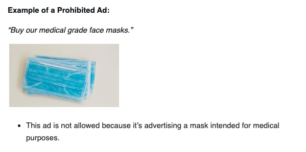 Určitě je možné, že jste zahlédli reklamu na Facebooku na lékařské roušky, nicméně to by mělo být opět tím, že je dotyčný inzerent schválen napřímo z Facebooku.
