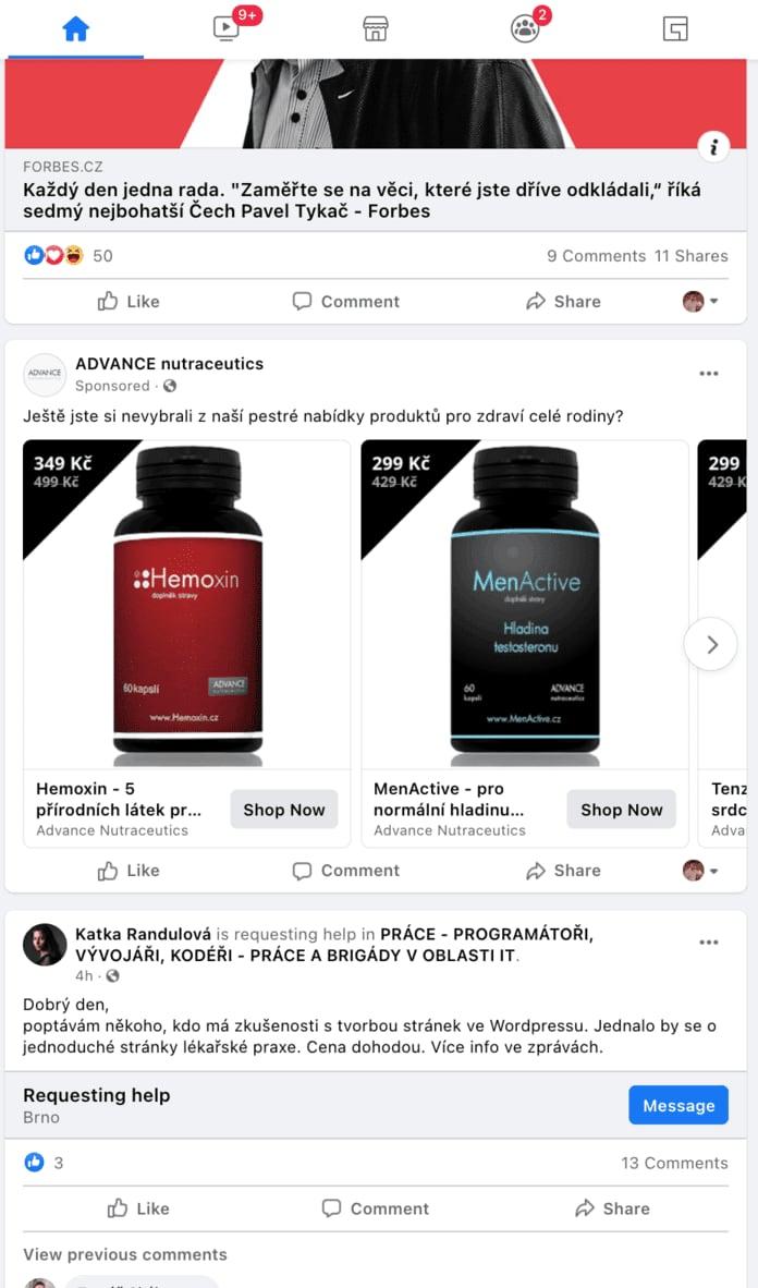 Reklama na Facebooku se řadí mezi reklamy, které umí generovat konverze, ale také budovat povědomí a brand.