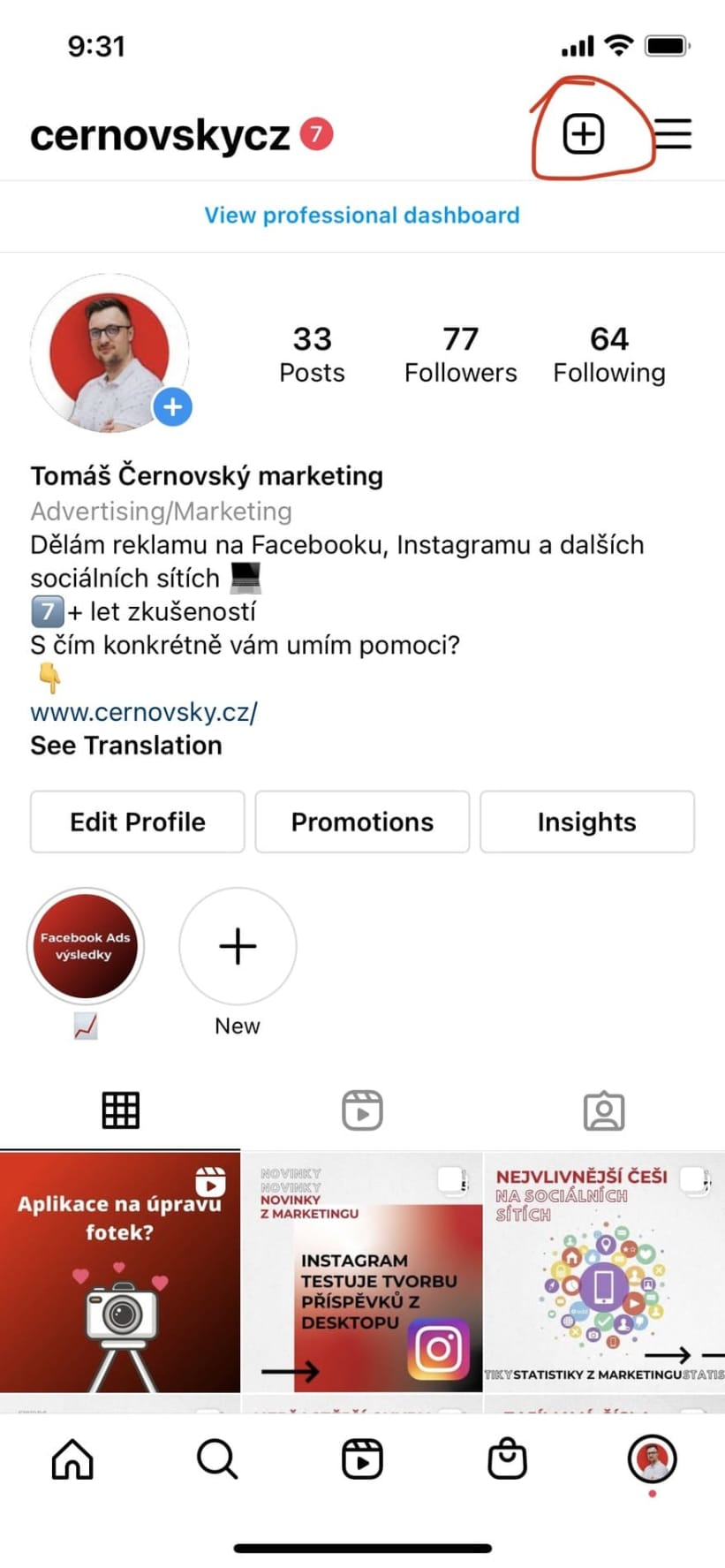 Instagram Reels je možné najít z více míst v aplikaci. Silně doporučuji vyzkoušet, které Reels budou na vaši cílovou skupinu fungovat a jaký obsah je ten, který bude vaši cílovku bavit.