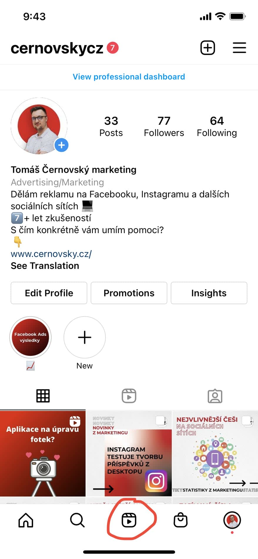 Instagram Reels získaly svou ikonku na spodku aplikace Instagram. Tuším, že zde dříve bývalo IGTV, ale tento formát už Instagram tolik netlačí jako právě zmíněné Instagram Reels.