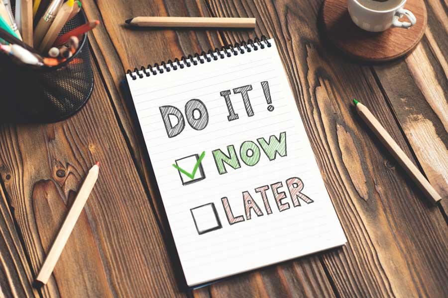 Stop procrastination time management tip picture