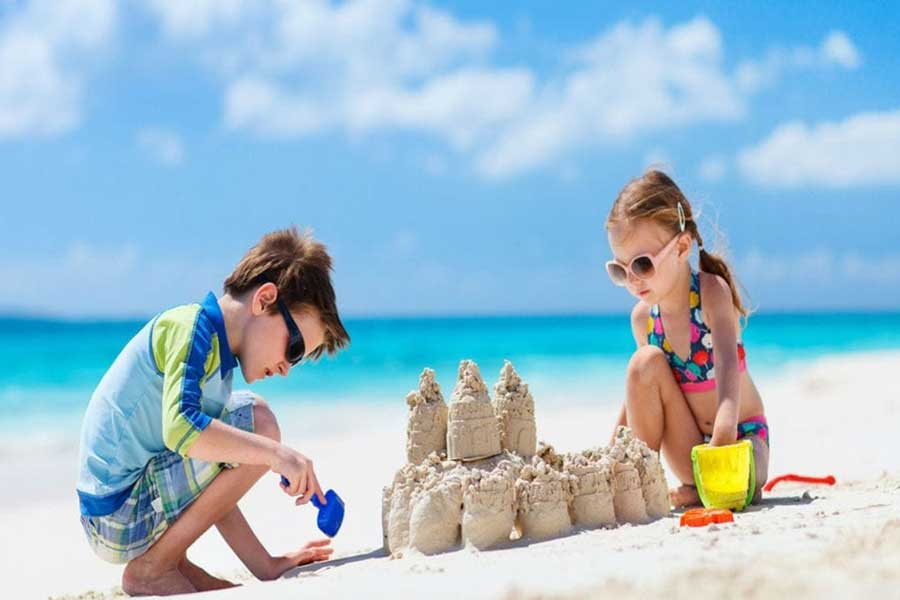 sandcastle holiday activity for kids