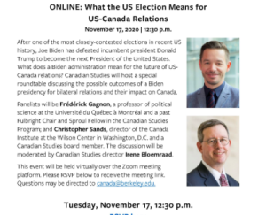 Webinar: What the US Election Means for US-Canada Relations