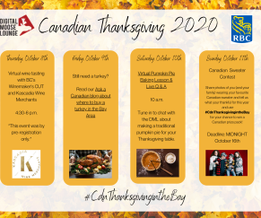 DML Canadian Thanksgiving: Oct 8th -16th