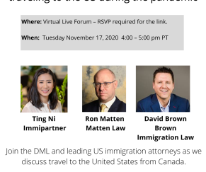 Webinar: What Canadians need to know about traveling to the US