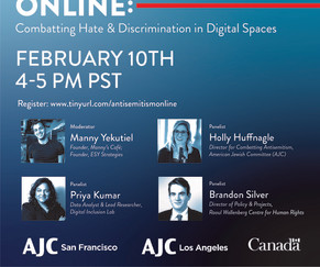 Antisemitism Online: Combatting Hate & Discrimination in Digital Spaces