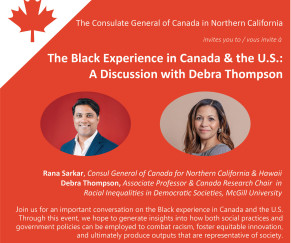 The Black Experience in Canada & US: A Discussion with Debra Thompson
