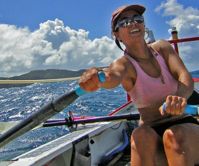 Rowboats and cocktails with Julie Angus '97