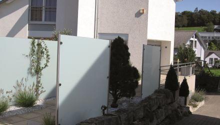 sichtschutz glas edelstahl, edelstahl/glas sichtschutz - markustech, Design ideen