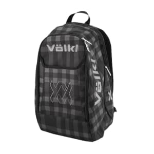 Backpack Black Plaid Square