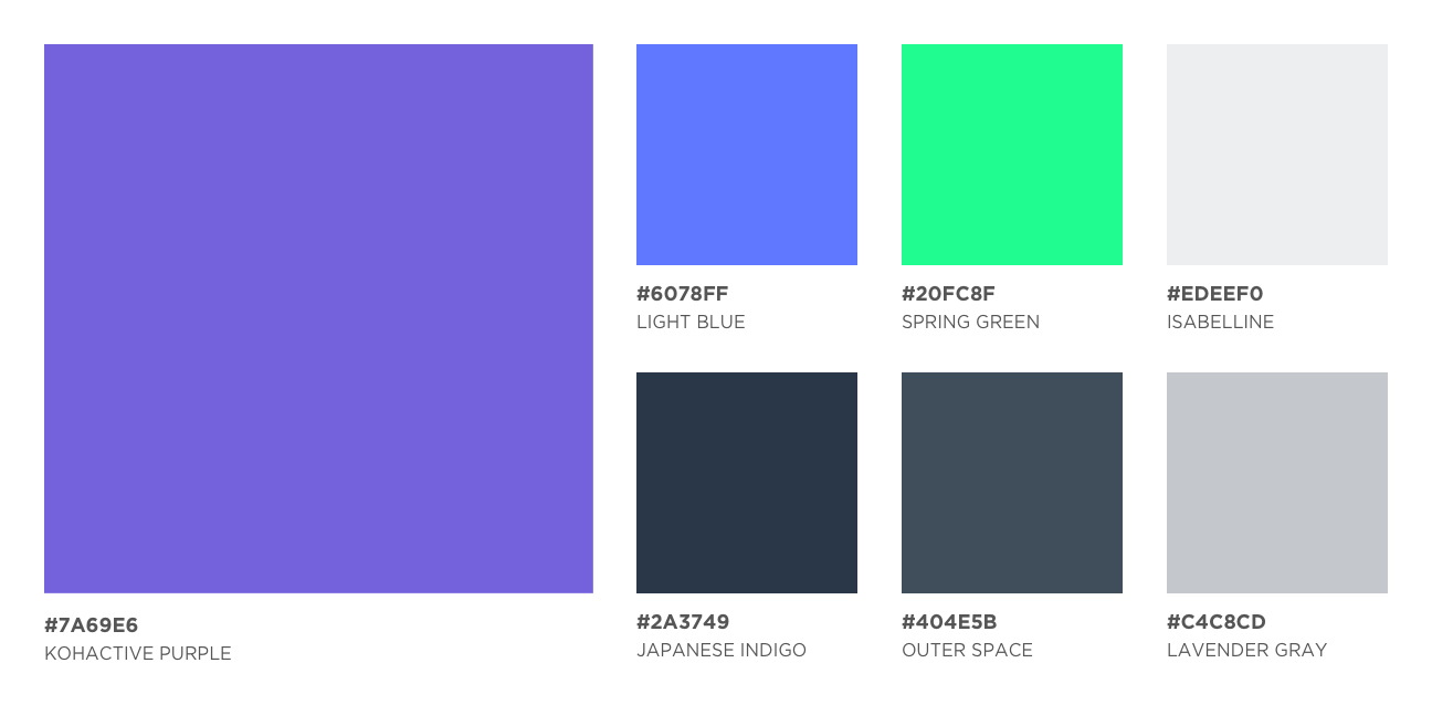 Kohactive Color Palette 2018