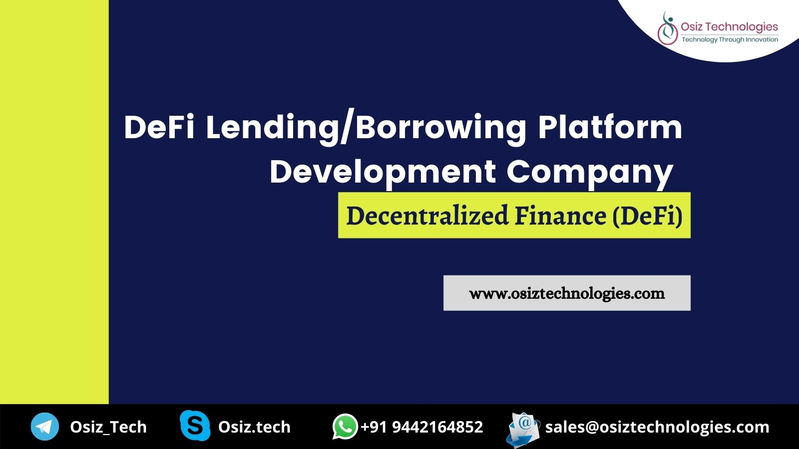 DeFi Lending/Borrowing Platform Development Company - Launch your own DeFi platform and redefine the world of finance