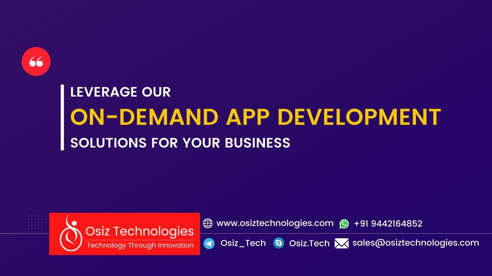 Leverage Our On-Demand App Development Solutions For Your Business