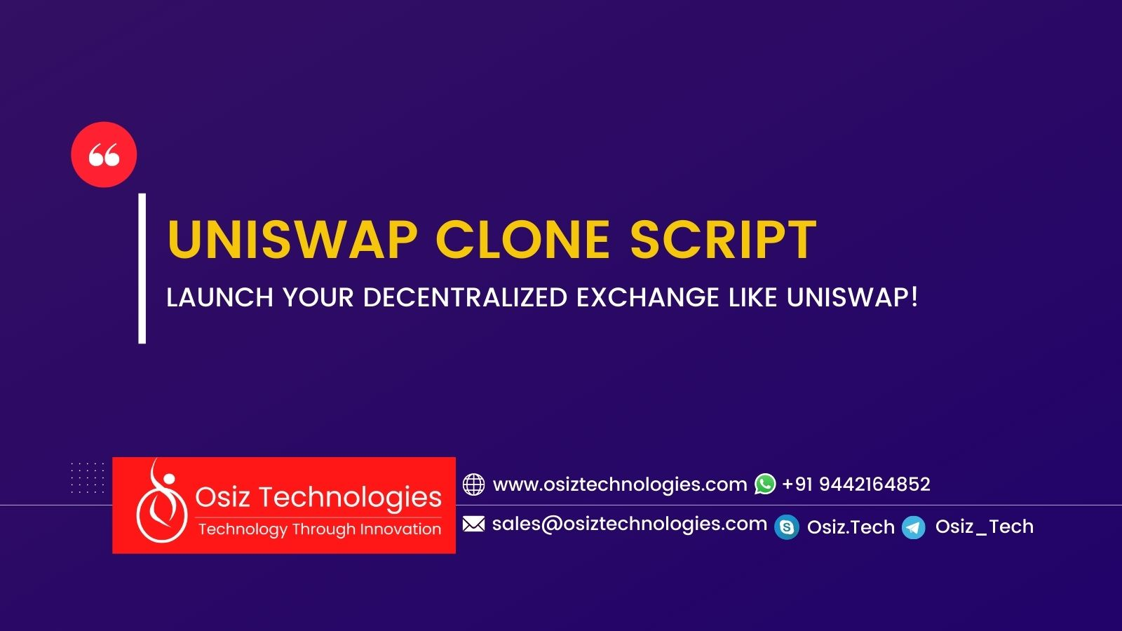 START A DEFI EXCHANGE PROTOCOL LIKE UNISWAP WITH OUR UNISWAP CLONE SCRIPT
