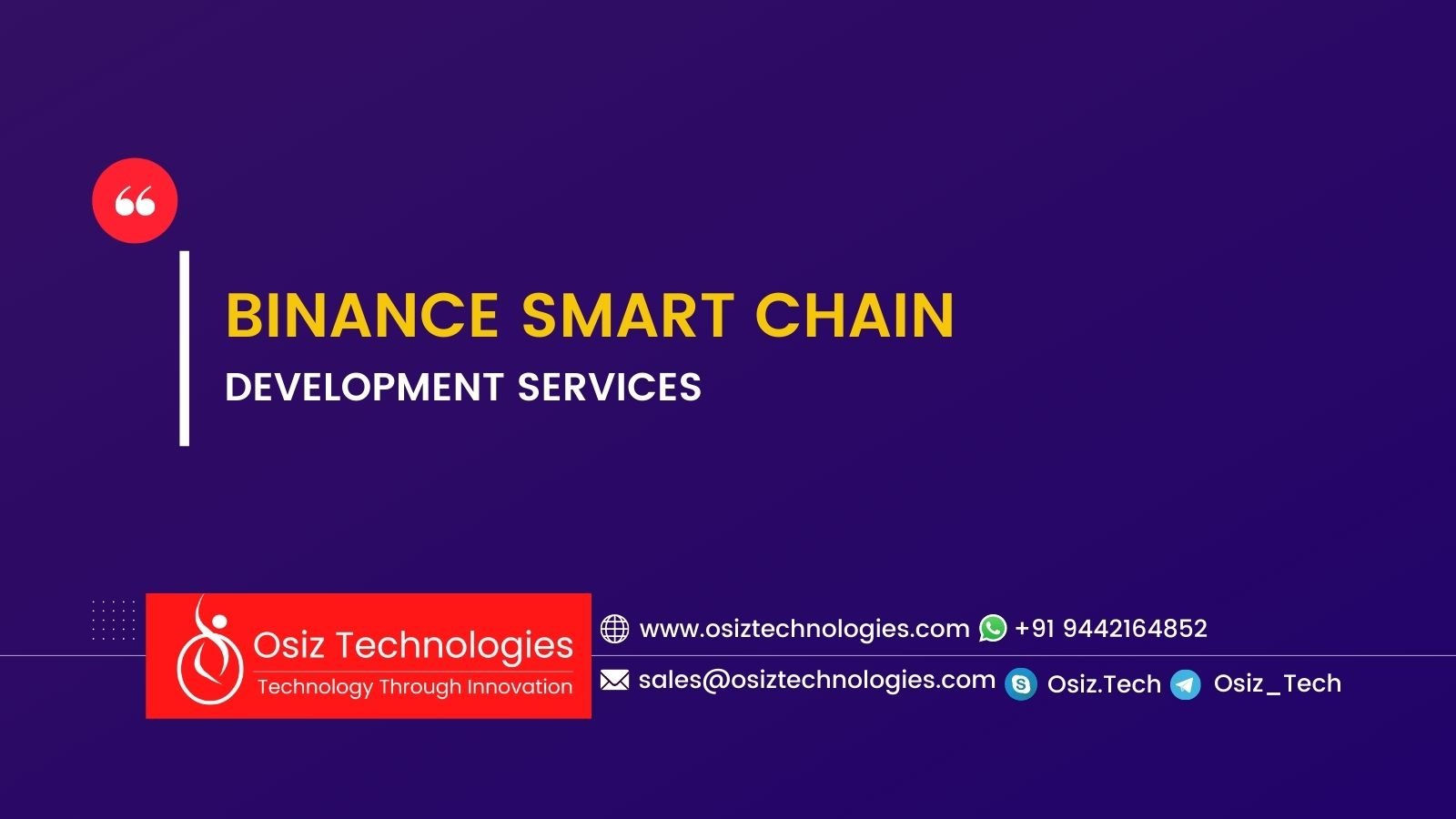 BINANCE SMART CHAIN DEVELOPMENT SERVICES COMPANY