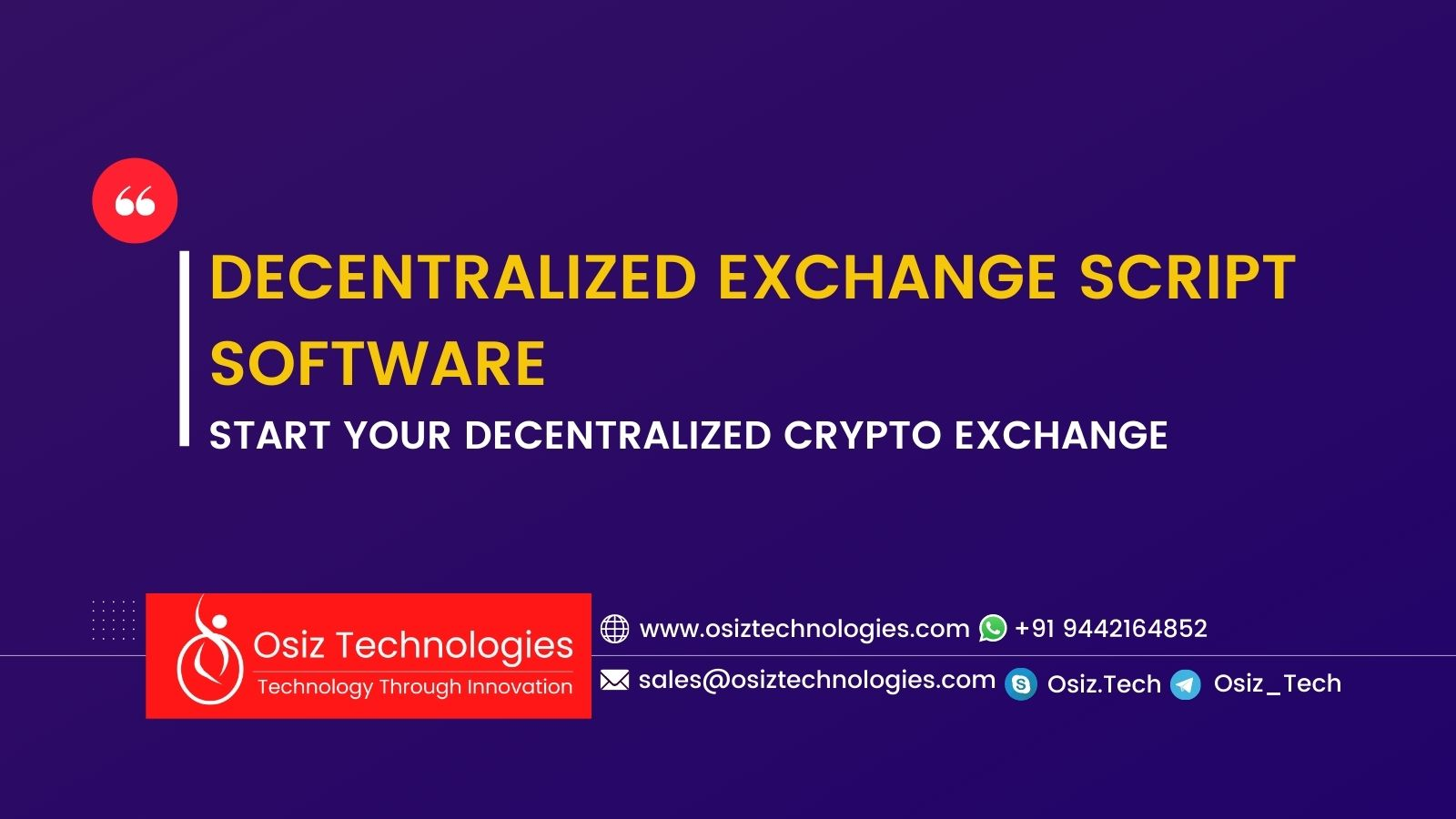 Decentralized Exchange Script Software