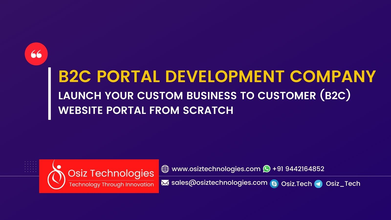 B2C PORTAL DEVELOPMENT COMPANY - BUILD YOUR CUSTOM BUSINESS TO CUSTOMER (B2C) WEBSITE PORTAL