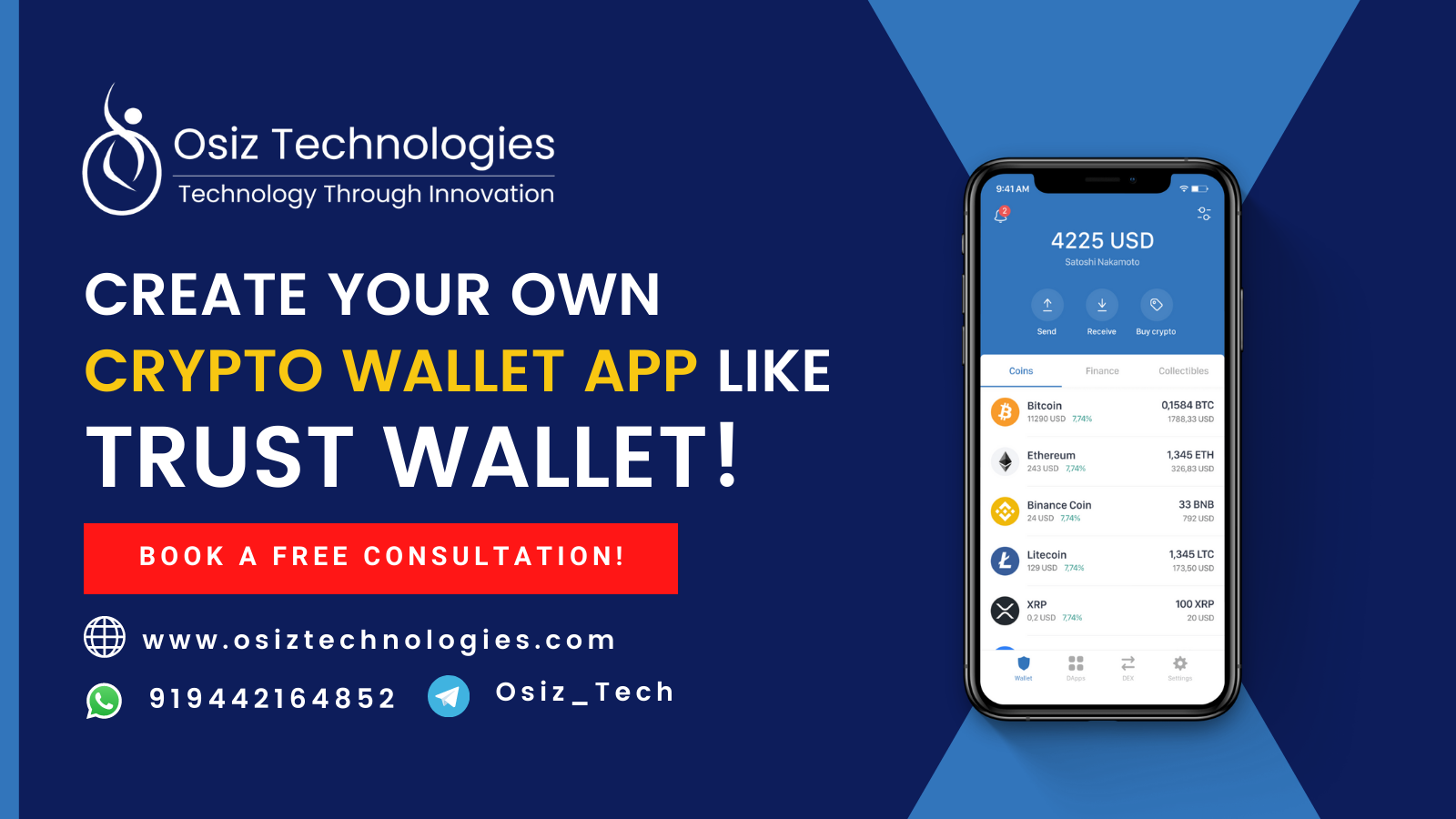 How to Build a Cryptocurrency Wallet App like Trust Wallet? - A Complete Guide