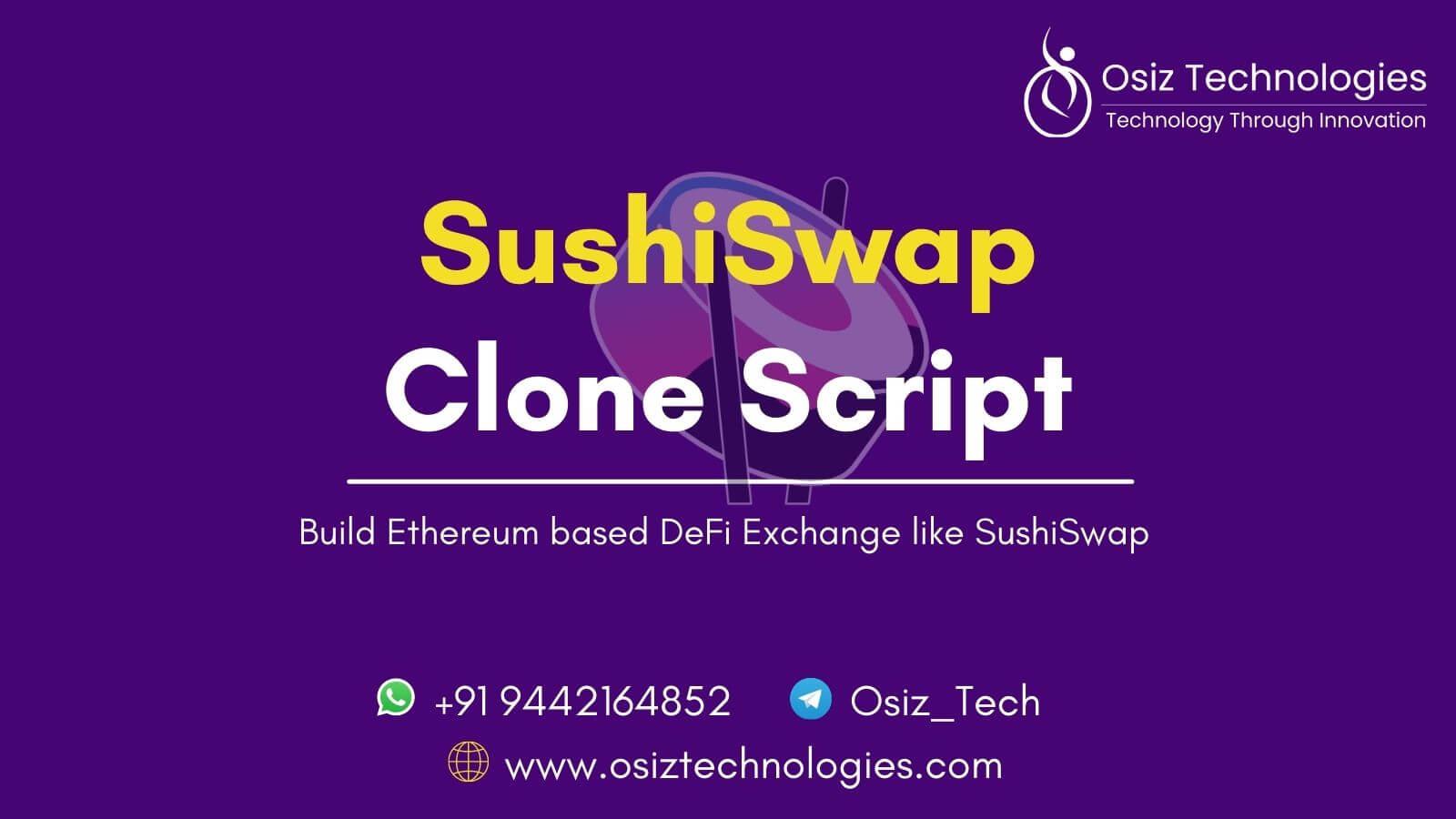 Sushiswap Clone Script - Build Ethereum based DeFi Exchange like SushiSwap