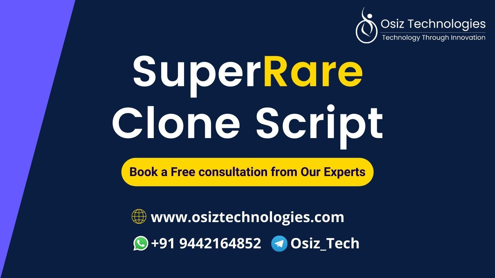 SuperRare Clone Script - create an NFT platform on Ethereum like SuperRare