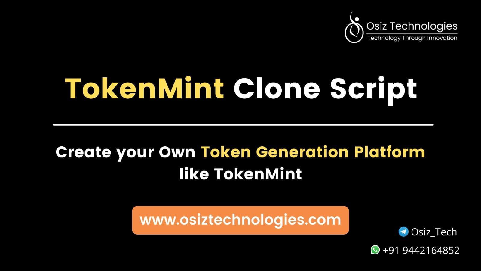 Tokenmint clone script
