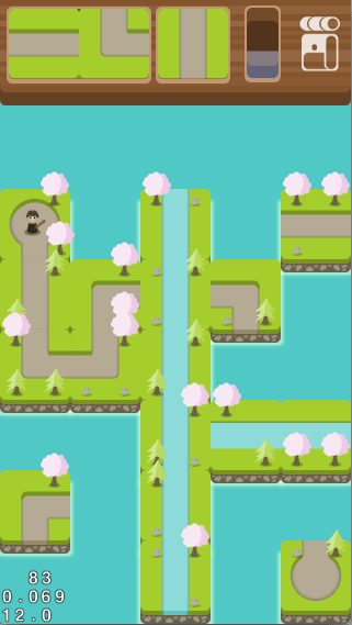 WIP shot of level showing random scenery placement