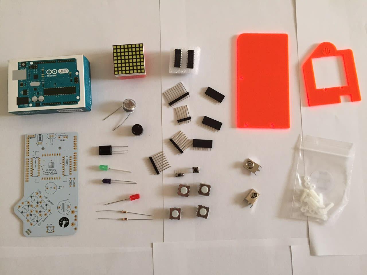 DIY Gamer Kit Components