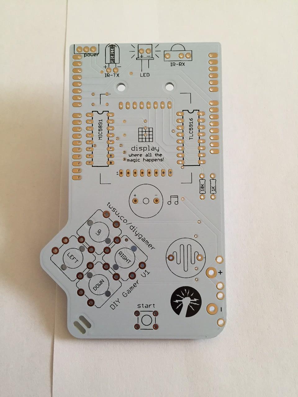 DIY Gamer Kit Printer Circuit Board