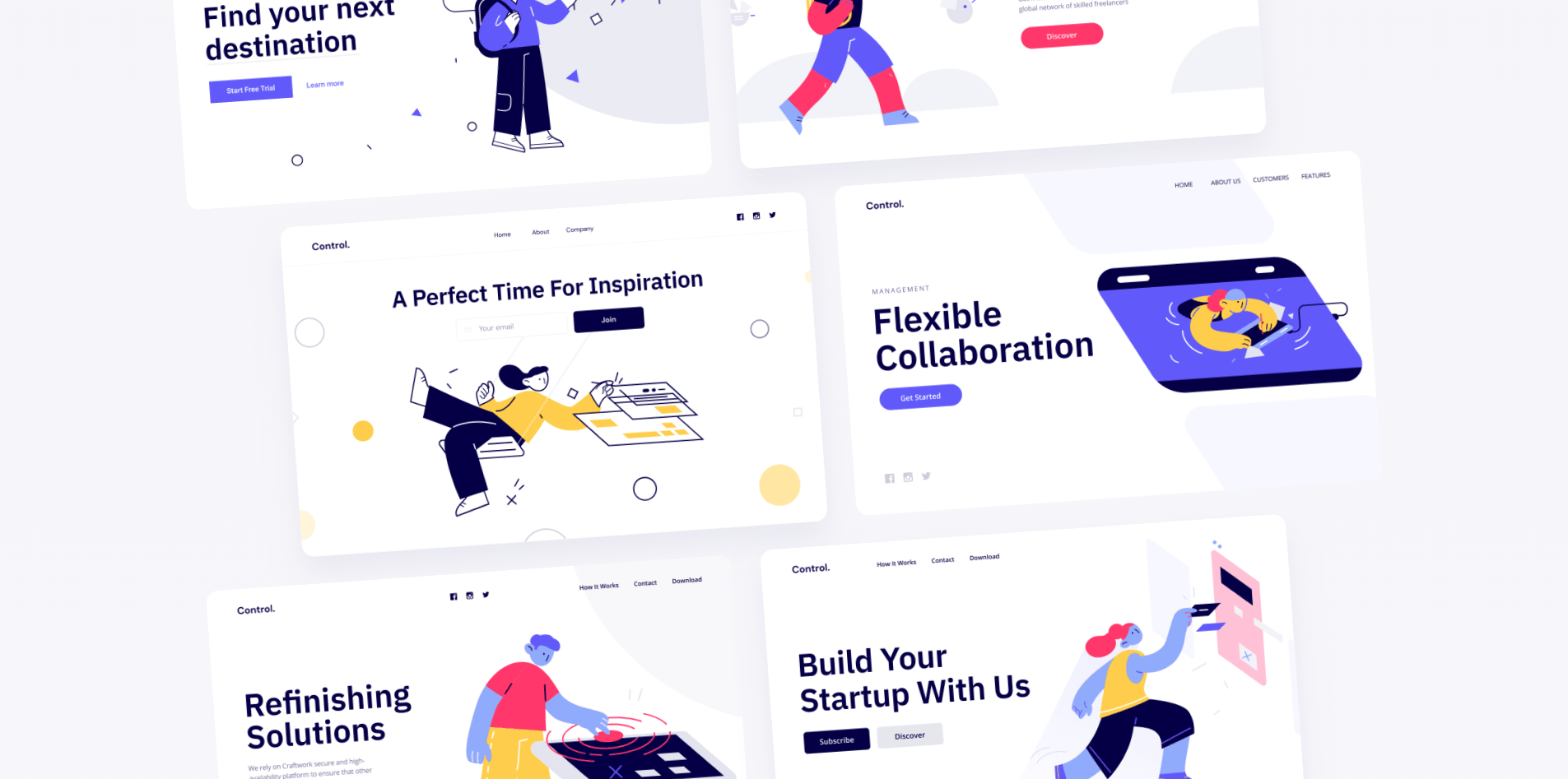Control landing page