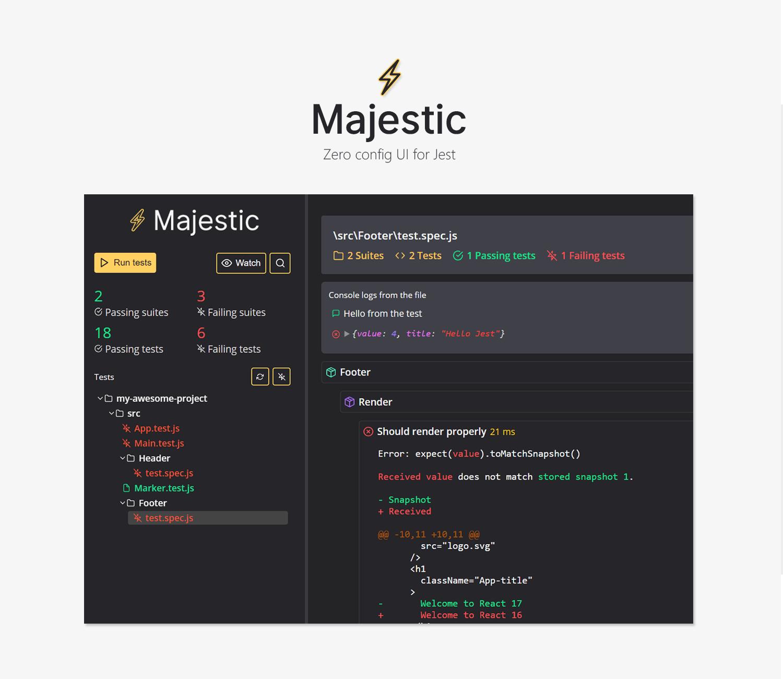 Majestic landing page