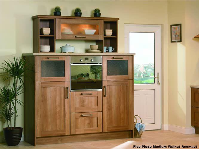 Five Piece Medium Walnut Roomset1b