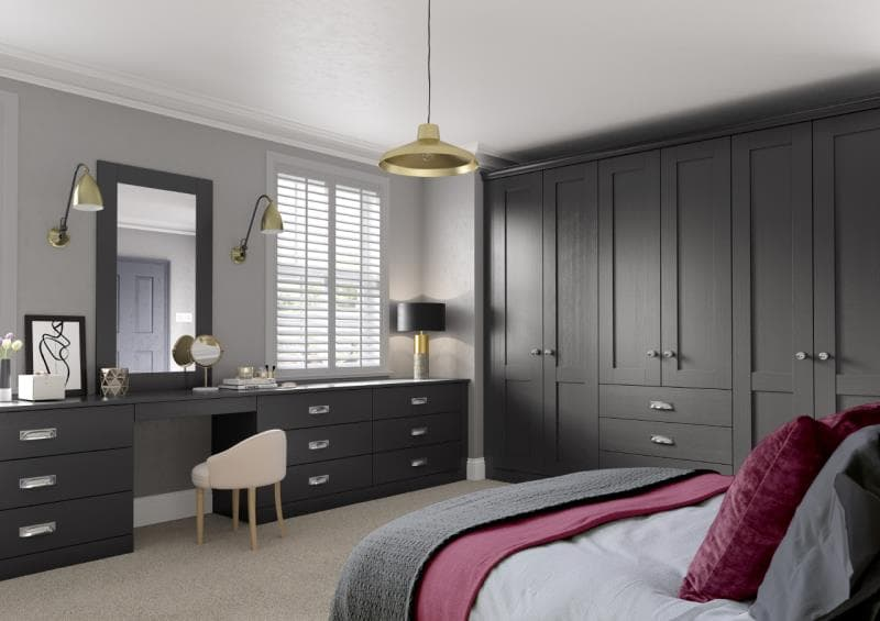 Lucca Legno Graphite Bedroom