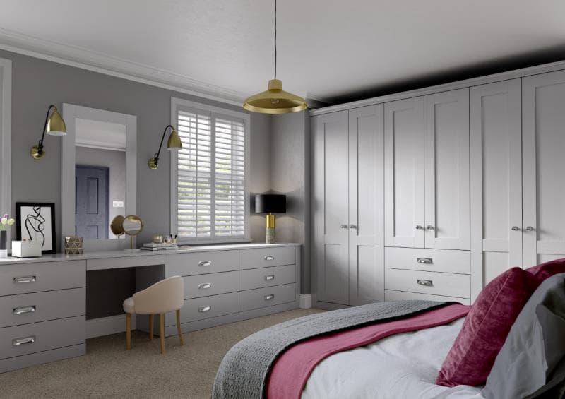 Lucca Legno Light Grey Bedroom