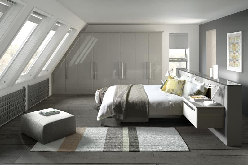 CGI Bedroom Phoenix Gloss Light Grey