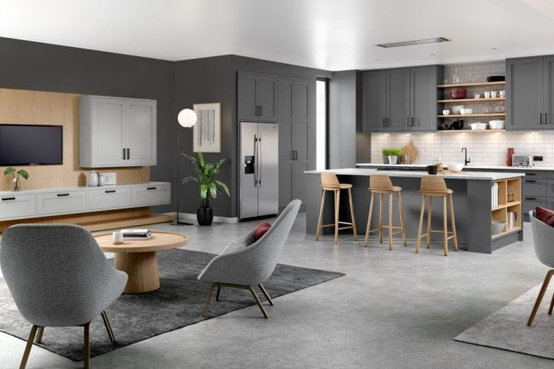 Loxley Dust Grey Light Grey Kitchen