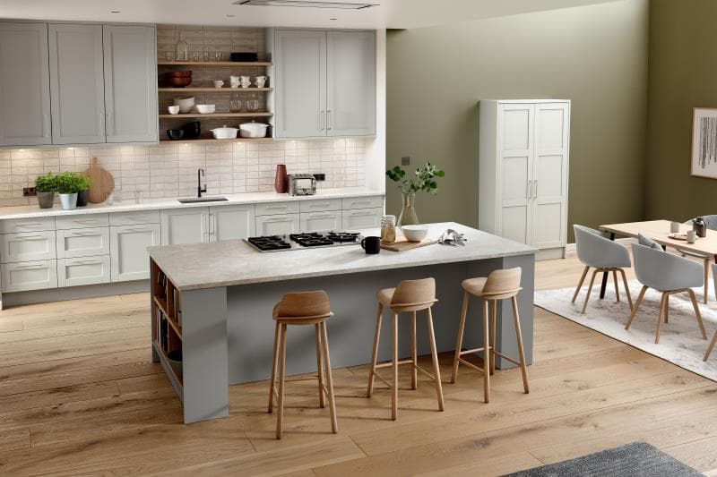 Loxley White Grey Dust Grey Kitchen