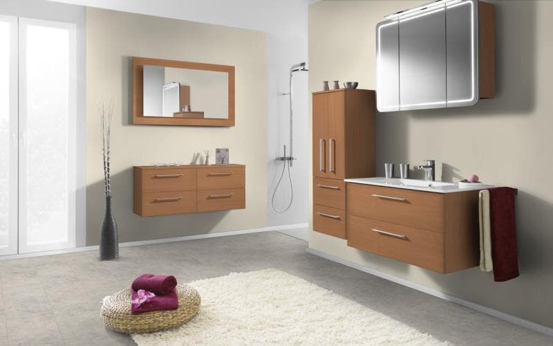 Economique Matt Bavarian Beech Bathroom