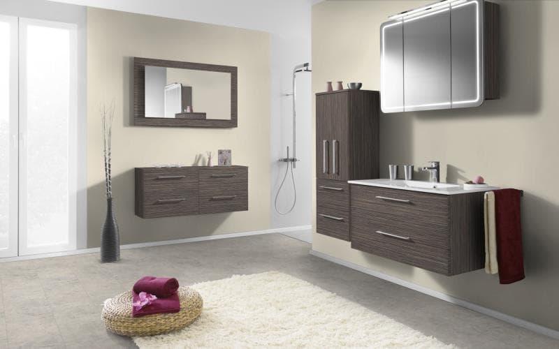 Economique Matt Grey Beige Zebrano Bathroom