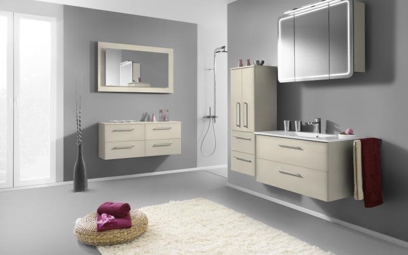 Treviso Handle-less Gloss Alabaster Bathroom
