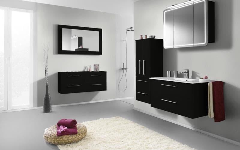 Treviso Handle-less Gloss Black Bathroom