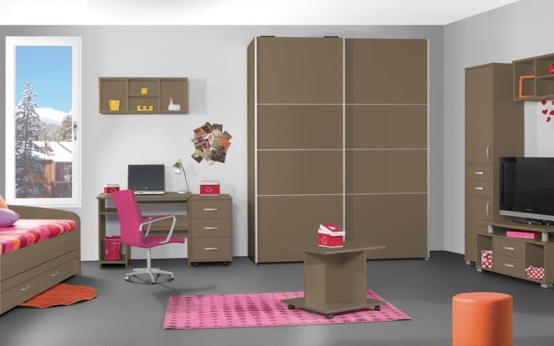 Treviso Handle-less Gloss Cappucino Bedroom