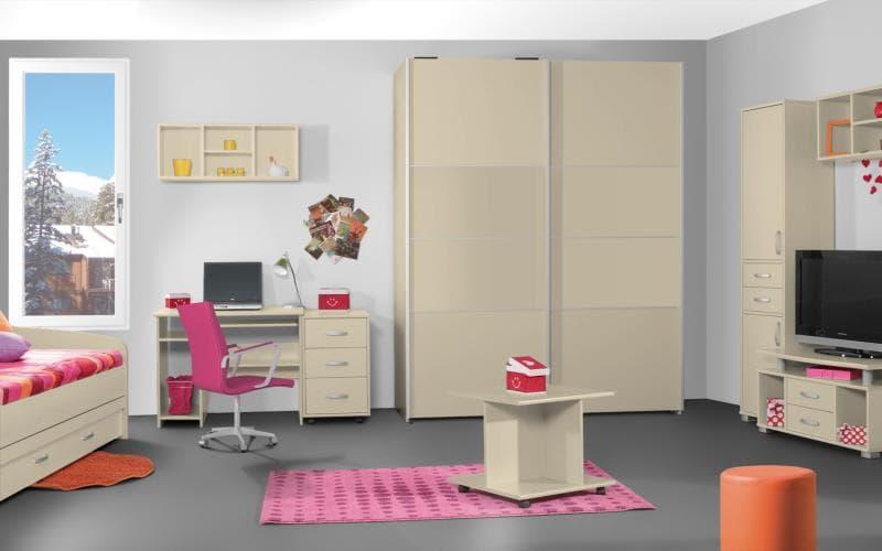Treviso Handle-less Gloss Cream Bedroom