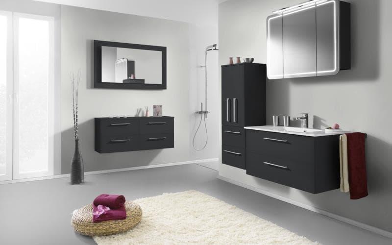 Sorrento Gloss Dark Grey Bathroom