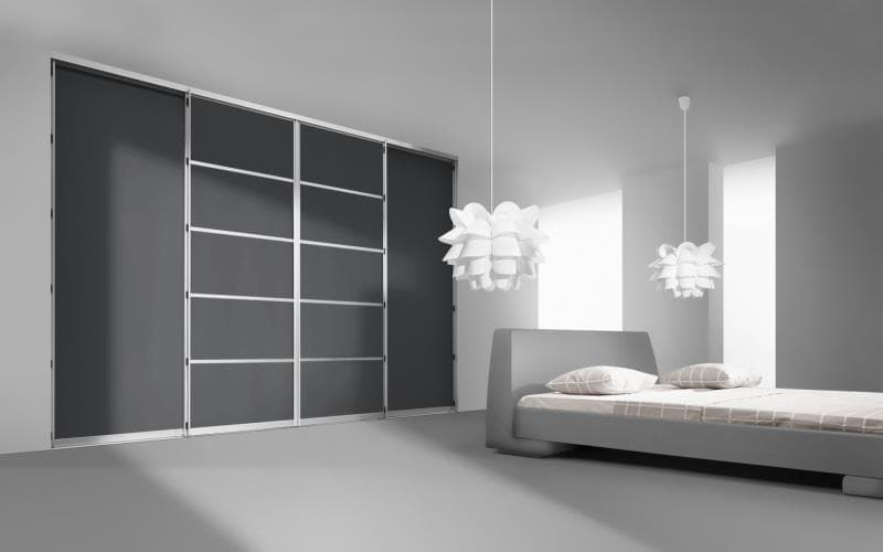 Sorrento Gloss Dark Grey Bedroom
