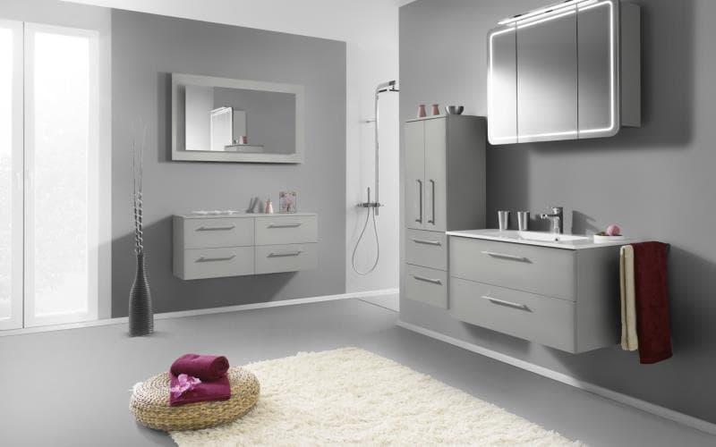 Treviso Handle-less Gloss Ebony Bathroom