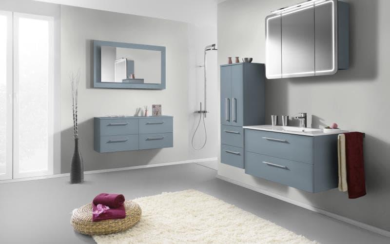 Sorrento Gloss Ice Blue Bathroom