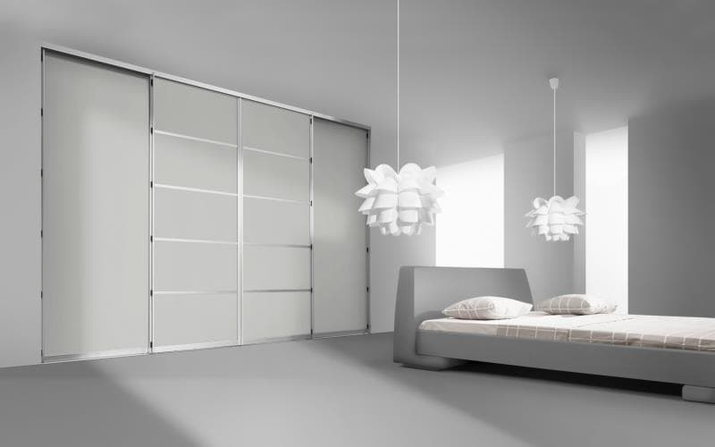 Sorrento Gloss Light Grey Bedroom