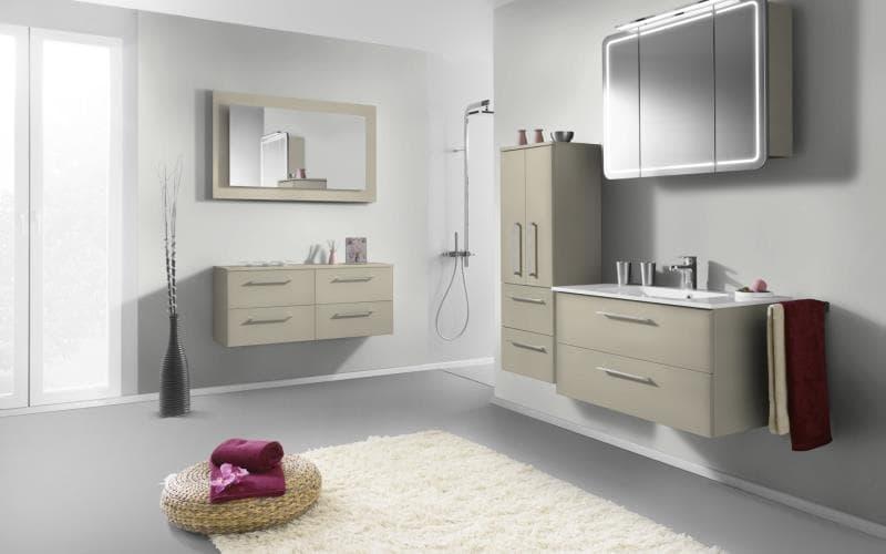 Treviso Handle-less Gloss Mussel Bathroom
