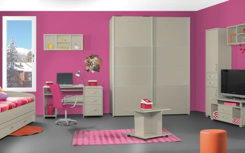 Treviso Handle-less Gloss Mussel Bedroom